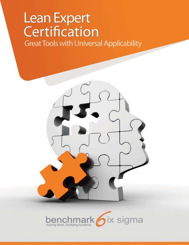 Benchmark Six Sigma Lean Expert Certification  Brochure