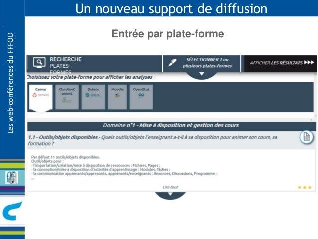 Les web-conférences du FFFOD  Un nouveau support de diffusion  Entrée par plate-forme