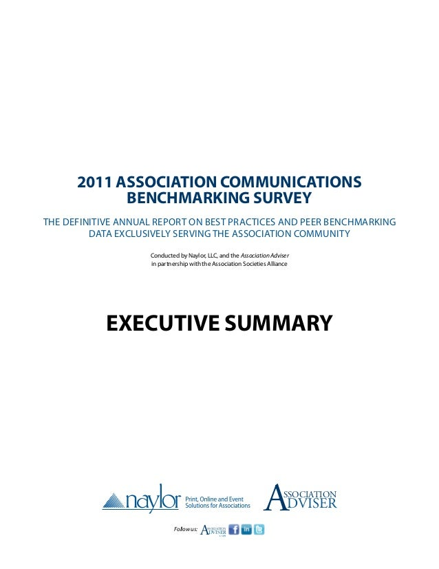 2011 Association Communications            Benchmarking SurveyThe definitive annual report on best practices and peer benc...