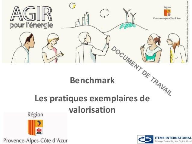 Benchmark Les pratiques exemplaires de valorisation