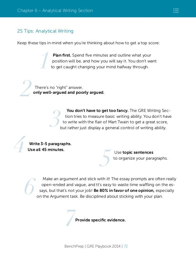 analytical writing gre tips