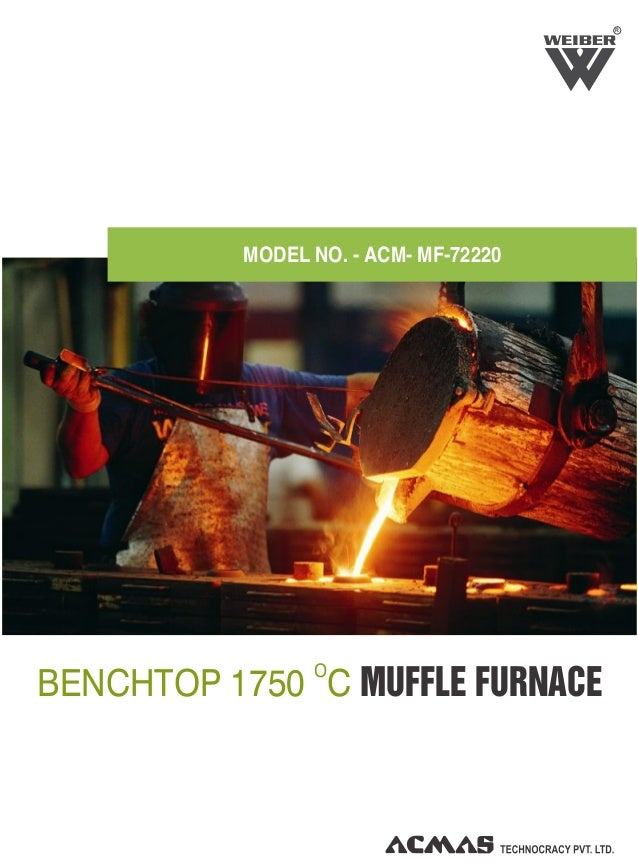 R O BENCHTOP 1750 C MUFFLE FURNACE MODEL NO. - ACM- MF-72220