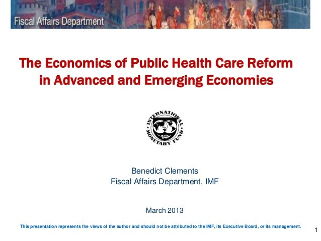 The Economics of Public Health Care Reform   in Advanced and Emerging Economies                                           ...