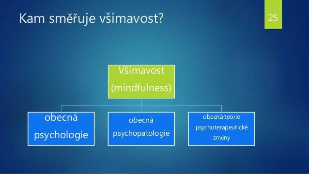 Kam směřuje všímavost? Všímavost (mindfulness) obecná psychologie obecná psychopatologie obecná teorie psychoterapeutické ...