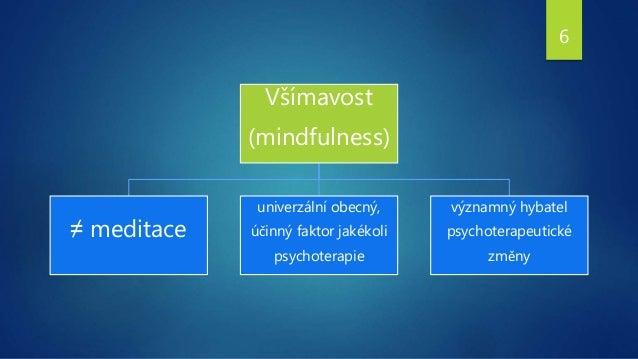 Všímavost (mindfulness) ≠ meditace univerzální obecný, účinný faktor jakékoli psychoterapie významný hybatel psychoterapeu...