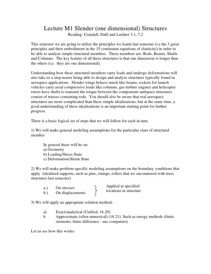 Bending and distributed loads