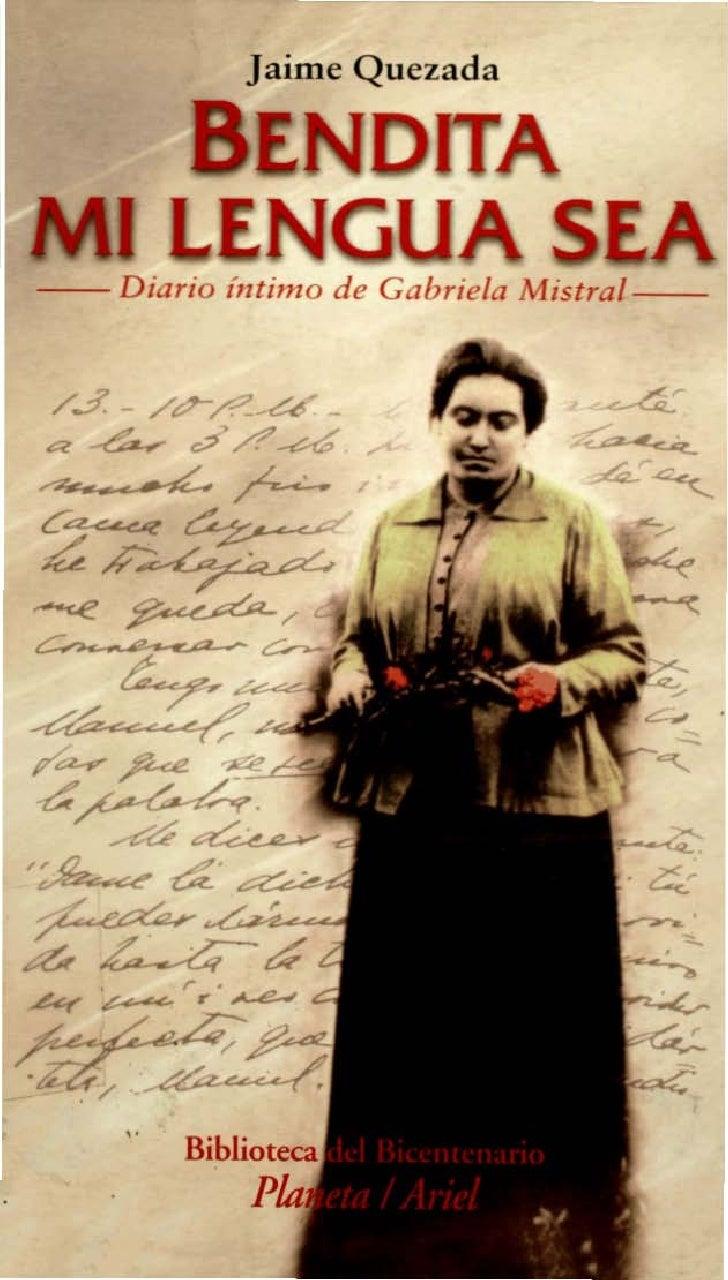 Jaime Quezada                         I     I- - Diario intimo d e G ab riela Mistral--