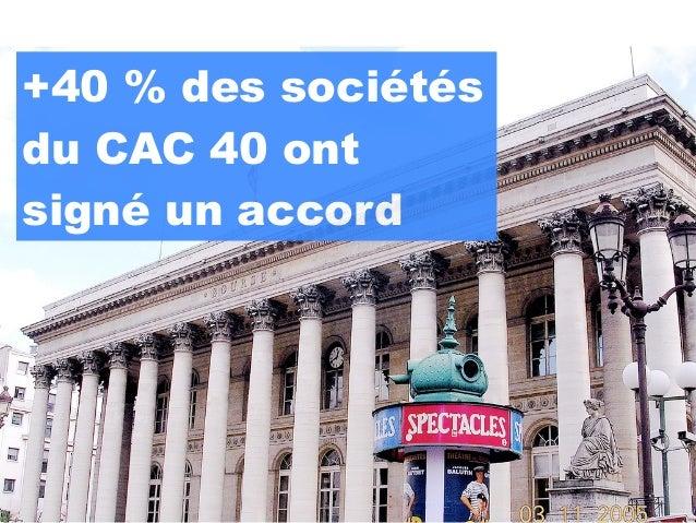 +40 % des sociétésdu CAC 40 ontsigné un accord