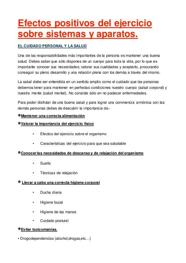 EFECTOS EJERCICIO SOBRE SISTEMAS CORPORALES 3º ESO