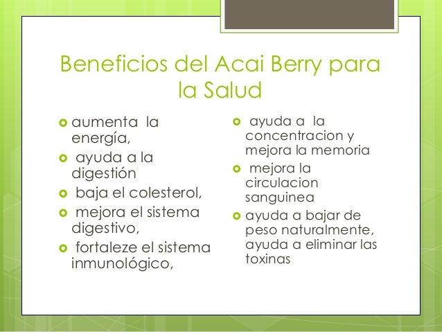 Beneficios y Propiedades del acai berry para la Salud