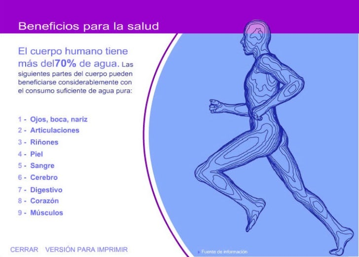 Beneficios del agua en el cuerpo