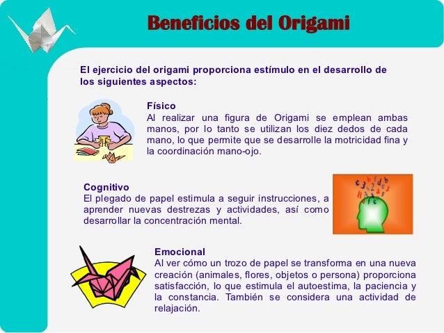 Beneficios del origami Slide 2