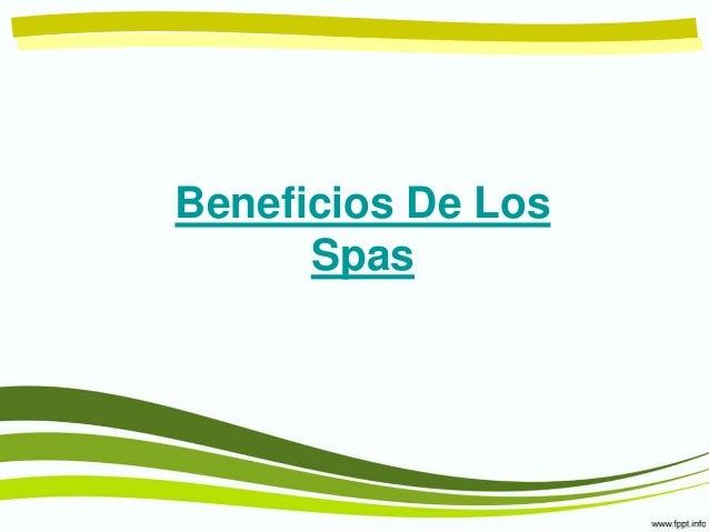 Beneficios De Los Spas