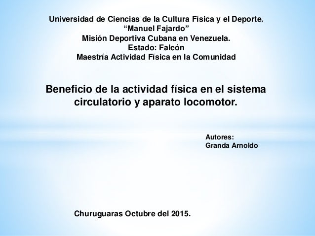 """Universidad de Ciencias de la Cultura Física y el Deporte. """"Manuel Fajardo"""" Misión Deportiva Cubana en Venezuela. Estado: ..."""