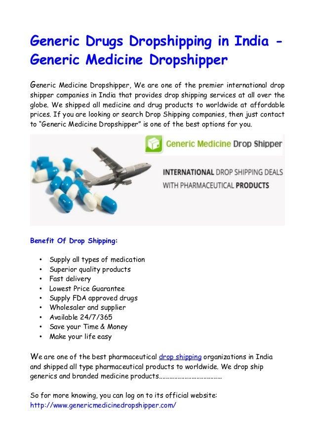 Benefit Of Generic Drugs Dropshipper