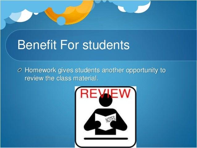 benefits of homework statistics