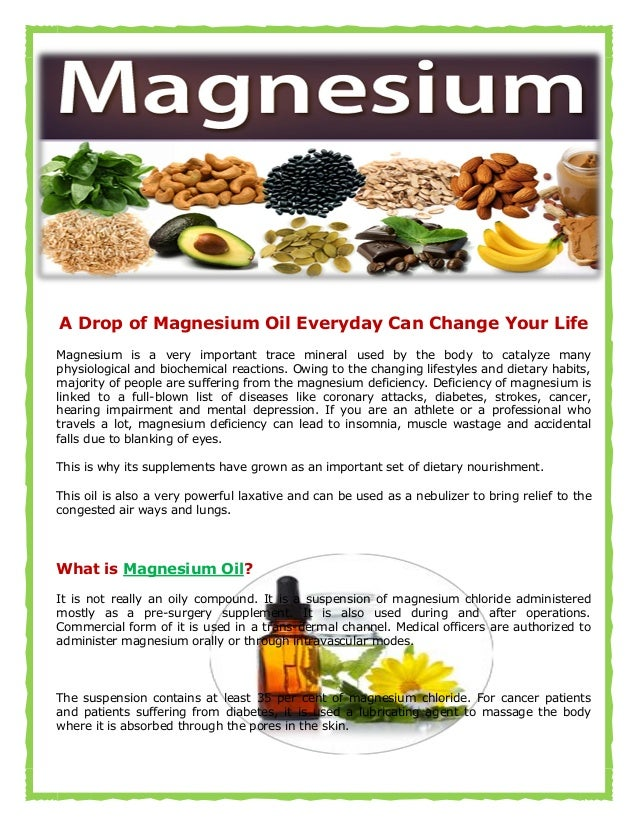 Magnesium Oil | Benefits For Your Radiant Health