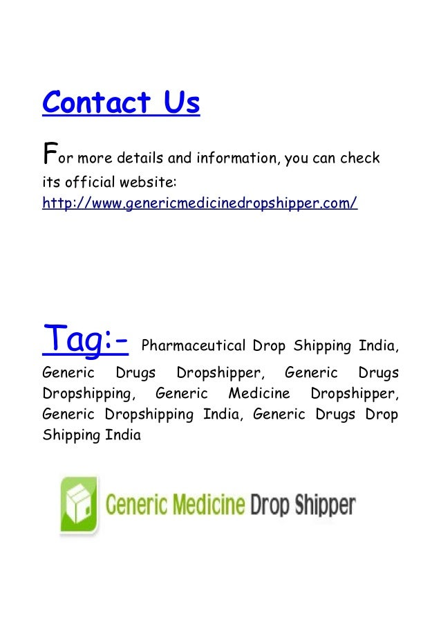 Benefit of Pharmaceutical Drop Shipping Company India