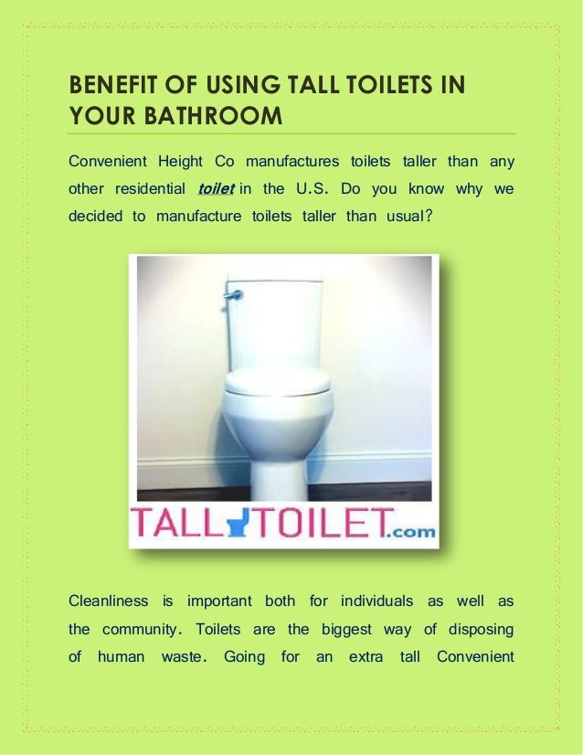 Magnificent Benefit Of Using Tall Toilets In Your Bathroom Gmtry Best Dining Table And Chair Ideas Images Gmtryco