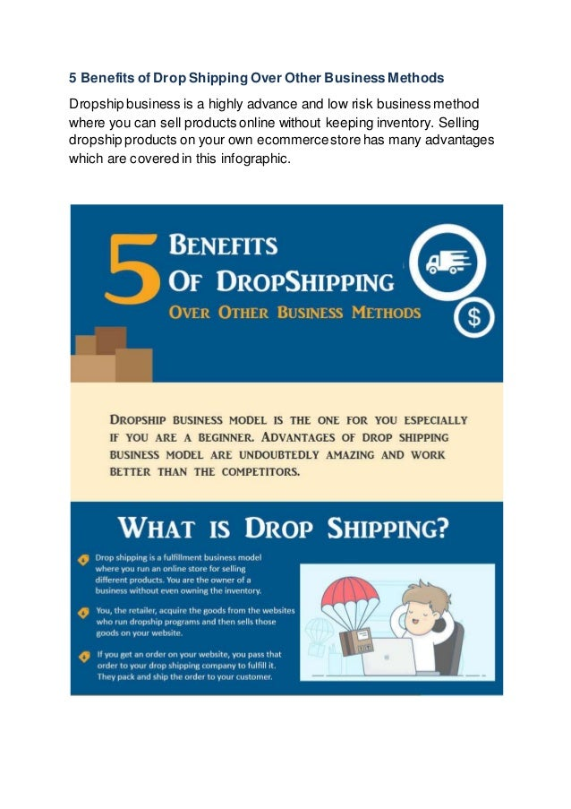 5 Benefits of Drop Shipping Over Other Business Methods