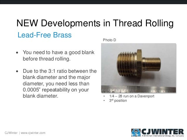 The Basics of Thread Rolling