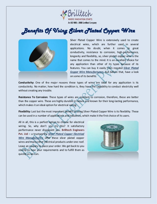 Benefits Of Using Silver Plated Copper Wire