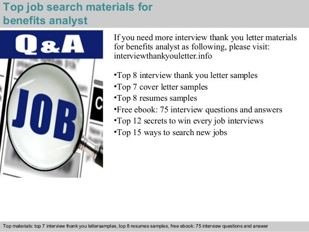 ... 5. Top Job Search Materials For Benefits Analyst ...