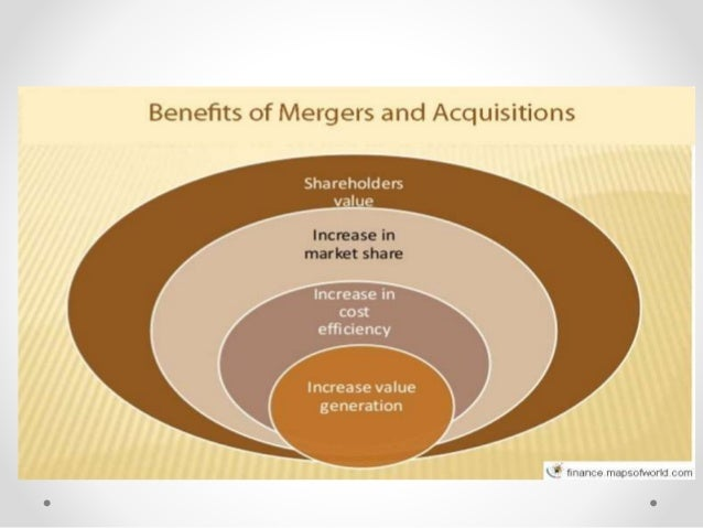 advantages of company mergers When companies come together through the mergers and acquisitions process [ m&a], there are numerous issues that must be analyzed to determine if the benefits of such a move outweigh the risks that are involved there are always benefits to the m&a process and there are always disadvantages.