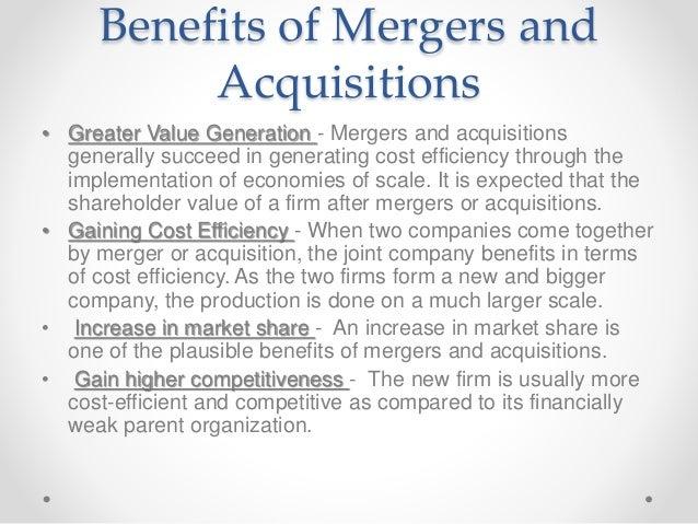 benefits of mergers