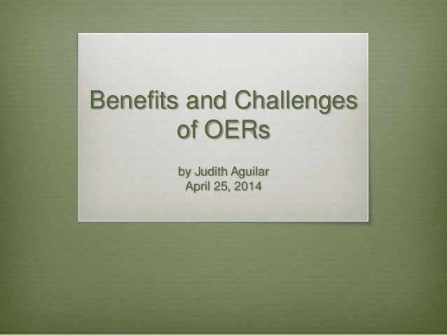 The benefits and the challenges of