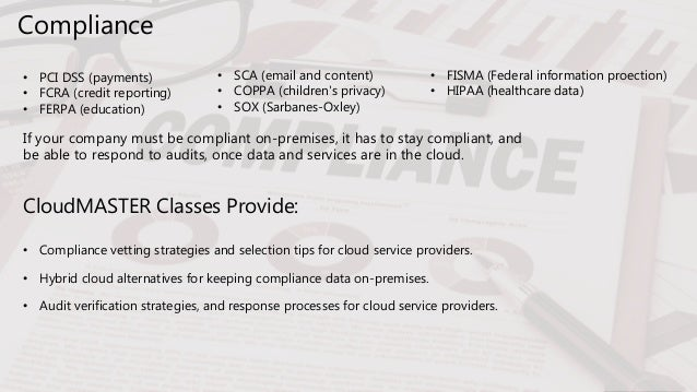 The Benefits and Coverage of CloudMASTER Cloud Computing