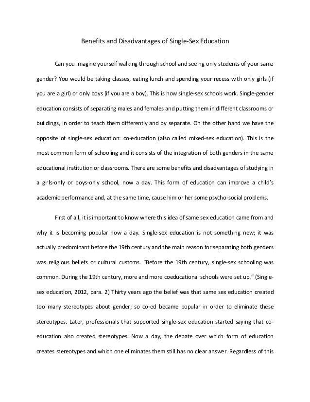 Argumentative Essays On Co Education  Is Coeducation Better Than  Argumentative Essays On Co Education