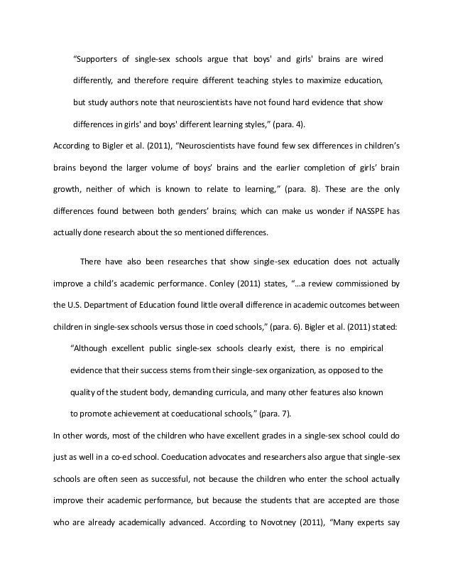 gender differences in education essay