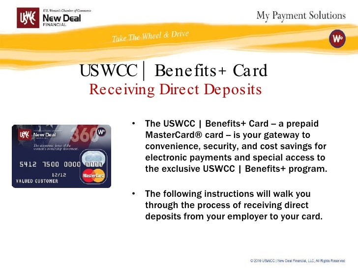 USWCC | Benefits+ Direct Deposits