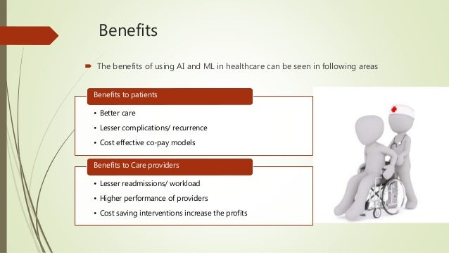 Benefits of AI and ML in healthcare Slide 3