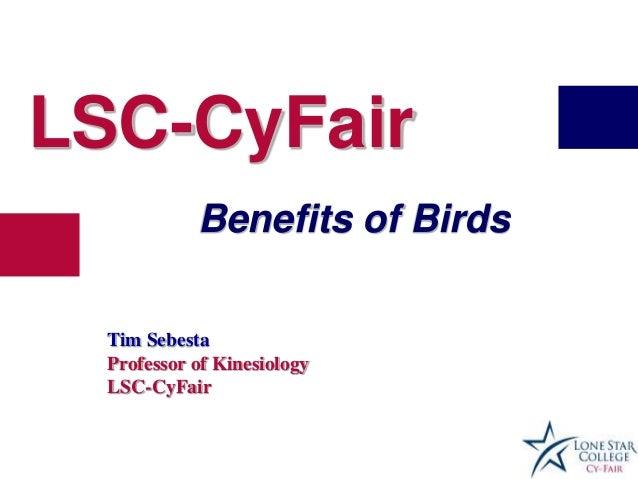 LSC-CyFairBenefits of BirdsTim SebestaProfessor of KinesiologyLSC-CyFair