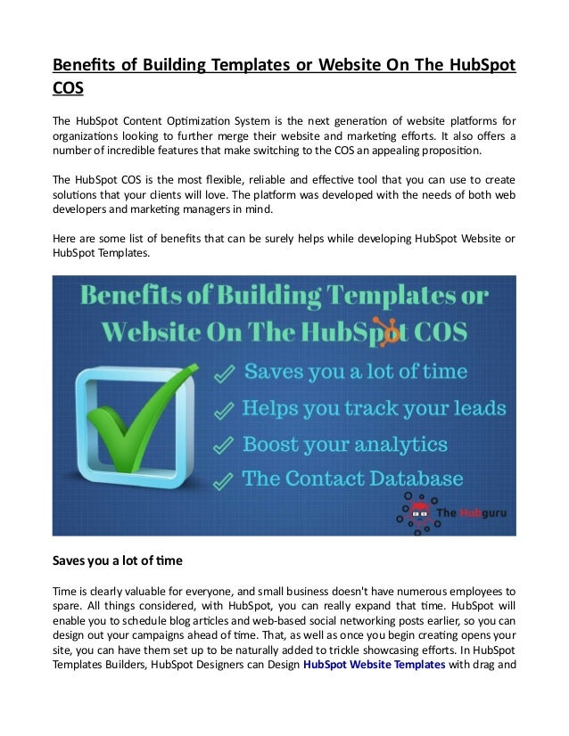 Benefits of Building Templates or Website On The HubSpot COS The HubSpot Content Optimization System is the next generatio...
