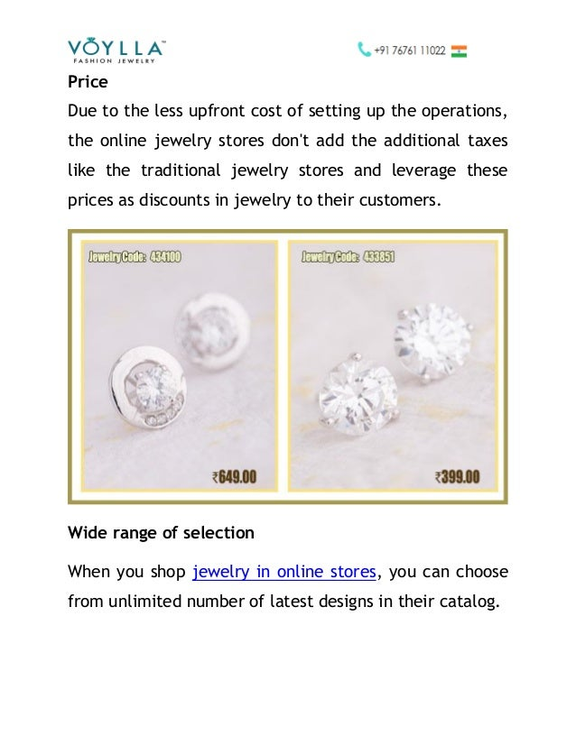 benefits of buying jewelry from online jewelry stores voylla