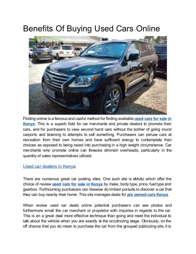 Benefits of buying used cars online