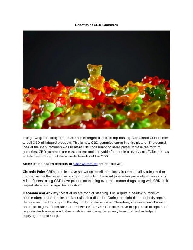 Benefits of cbd gummies