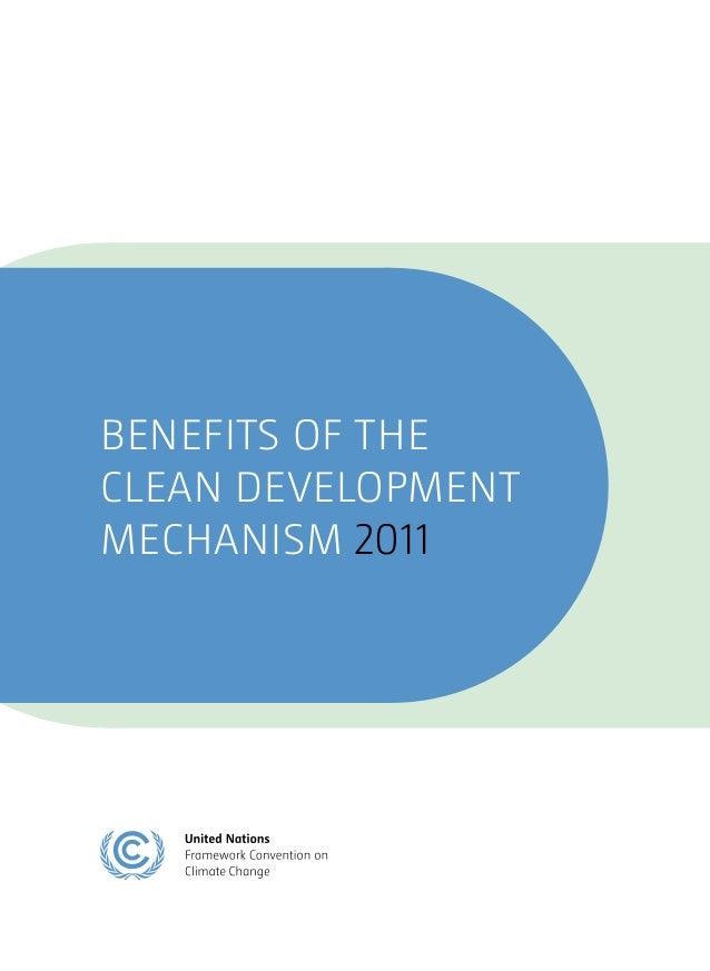 BENEFITS OF THECLEAN DEVELOPMENTMECHANISM 2011