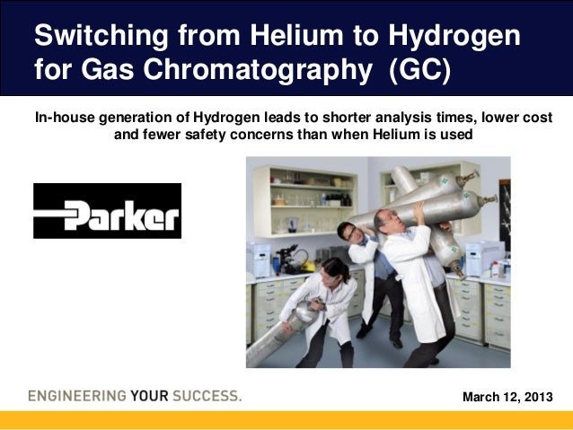 Switching from Helium to Hydrogenfor Gas Chromatography (GC)In-house generation of Hydrogen leads to shorter analysis time...