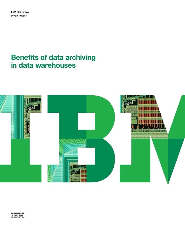 IBM Software White Paper Benefits of data archiving in data warehouses