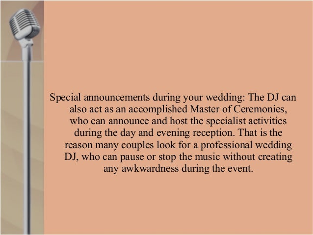 Benefits Of Dj Hire For Your Wedding