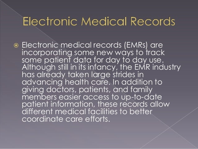 advantages and disadvantages of using electronic medical records There are several potential advantages and disadvantages to this approach ( table 1) first, if the perinatal emr is maintained through an application service .