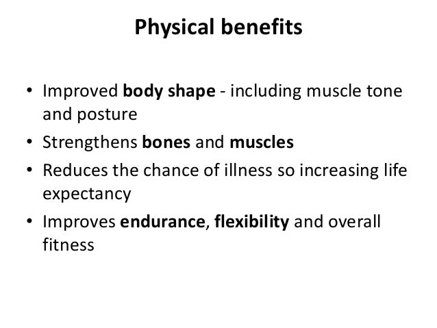 benefits of exercise physical