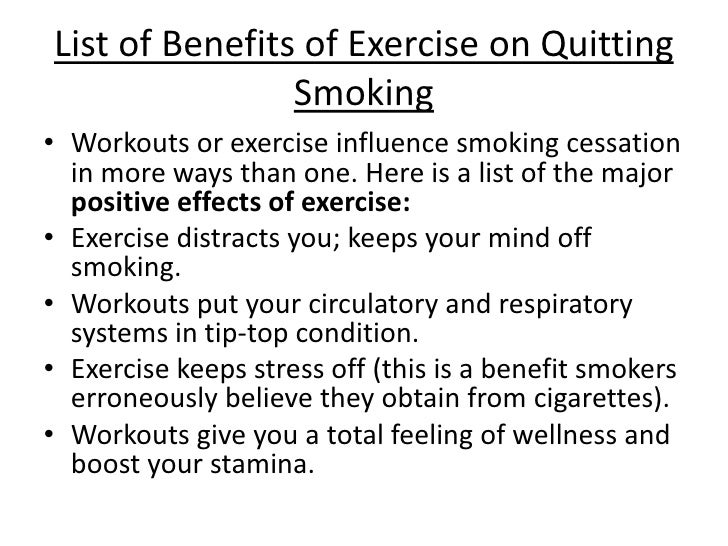 List Of Effects Of Smoking