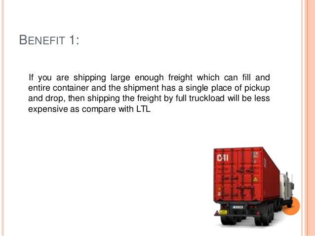 Advantages of full truckload freight
