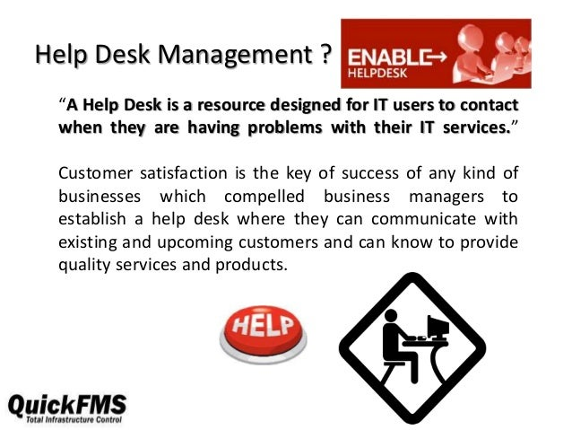 Benefits of help desk Slide 2