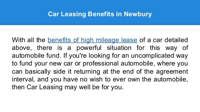 Tangible Benefits of Car Leasing